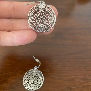 Francesca's brand silver earrings